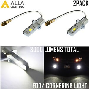 H3 Pure White LED Cornering Light|Daytime Running DRL|Fog Lamp East Installation
