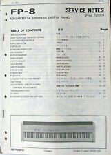 Roland FP-8 Digital Piano Original Service Manual Booklet, Made in Japan, 1991