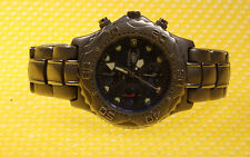Men's FOSSIL TI-5011 Titanium Quartz Chronograph Watch 200M * GOOD USED *