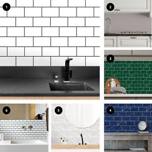 Peel and Stick Tile Sticker Kitchen Backsplash Bathroom Splashback Stick On Tile