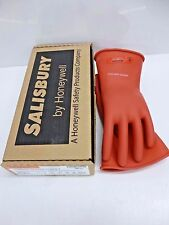NEW!! SALISBURY RED LINEMAN GLOVES, NATURAL RUBBER, 0 CLASS, E011R/10