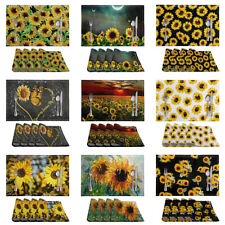 Fashion Sunflower Pattern Placemats Non-slip Heat Insulation Dining Table Mats