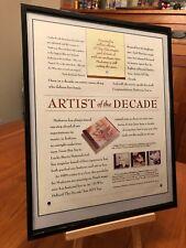 "BIG 11X14 FRAMED MADONNA ""ARTIST OF THE DECADE"" & ""LIKE A PRAYER"" LP CD PROMO AD"
