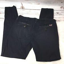 Hollister Juniors Social Stretch Black Pants Size 3 Black