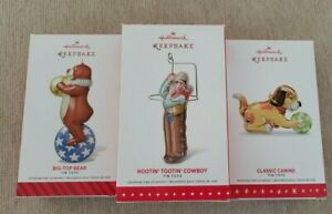 Hallmark Complete Tin Toy Series 2014 2015 2016 Bear Cowboy and Canine