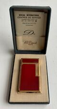 Genuine S T Dupont Red Lacquer and Gold Chinese Symbol Lighter
