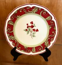 "VILLEROY & BOCH Germany JOY NOEL Pattern 8 1/8"" SALAD PLATE(s) Red Berries"