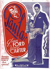 "BIBLIOTECA FILMS""PAULA""GLENN FORD&JANIS CARTER ed.ALAS"