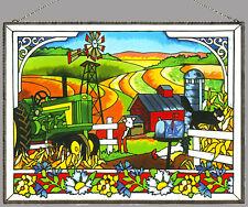 JOAN BAKER GLASS SUNCATCHER/ ART PANEL - ON THE FARM (AP127)