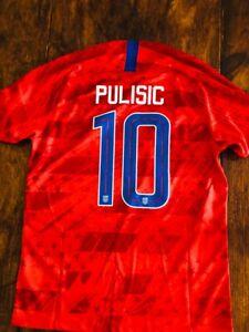 2019/20 Nike USA National Team #10 Pulisic Away Stadium Soccer Jersey AJ4355-688