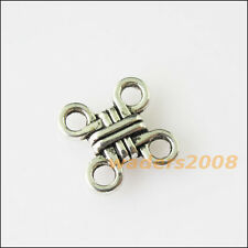 25 New Chinese Knot Connectors Tibetan Silver Tone Charms Pendants 10mm
