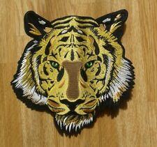 SUPERBE PATCH BRODE - THERMOCOLLANT - TETE DE TIGRE - LION / XXL 25 x 24,5 BIKER