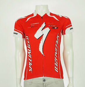 Specialized Bicycles Red Full-Zip Logo Cycling Jersey Mens Medium