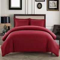 Soft Duvet Cover Comfort 1800 Count Microfiber 3 P Deep pocket Bed Sheets Set H1