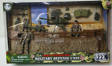 NIB World Peascekeepers Military Defense Unit Play Set w Army Figures Weapons