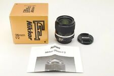 【Near Mint 】Nikon NIKKOR Ai-s 28mm f/2 Box ais wide angle MF 28 2 from japan 335