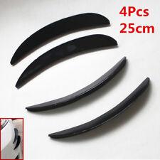 4pcs 25cm Universal Black Car/Auto Front Bumper Fins Spoiler Refit Canards Kit