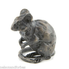 "Sue Maclaurin ""Sitting Mouse Maquette"" Solid Bronze Sculpture Nelson & Forbes"