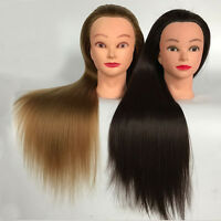Salon Real Human Hair Training Head Hairdressing Styling Mannequin Doll