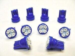 10 Blue Pontiac SUPER BRIGHT 12V LED 194 Wedge Instrument Panel Light Bulb NOS