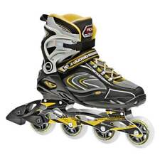 Inline Skates Mens Outdoor 80mm 4 Wheels Recreational Black Size 9