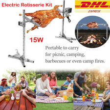 BBQ Electric Rotisserie Kit Automatic 15W Rotisserie Kit Outdoor Large Grill