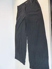 MARITHE FRANCOIS GIRBAUD  S-M stretch Lagenlook wide leg dress trousers black