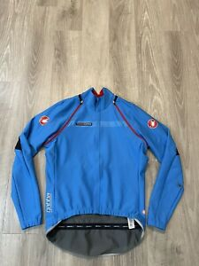 (FLAW) Castelli XL Gabba Rosso Corsa Convertible Jacket Gabba windstopper blue