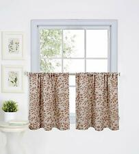 "NEW Elrene Home Fashions Window Tier, 30"" x 24"" Each Set of 2, Spice Red"