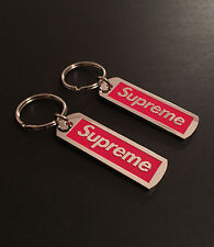 Red Supreme S/S 2013  Metal Tag Keychain Polished Box Logo LIMITED SOLDOUT RARE