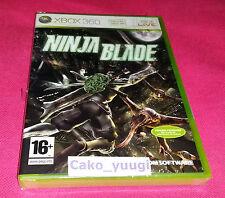 NINJA BLADE XBOX 360 NEUF SOUS BLISTER FRANCAIS BLISTER ABIME
