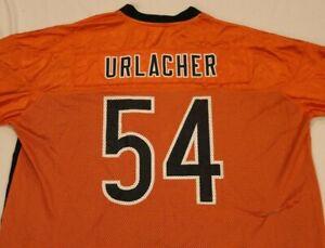 VTG Chicago Bears-#54 Brian Urlacher Blue/Orange Reebok On Field Jersey -sz XXL