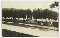 RPPC Cemetery at MOUNTAIN GROVE PA Vintage Luzerne County Real Photo Postcard 2