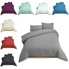 100% Egyptian Cotton Duvet Quilt Cover Bedding Sets Single Double King Bed Size