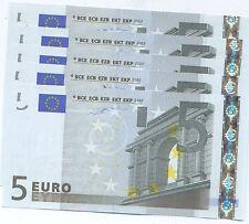 "5  EURO - DUISENBERG primissima serie - J002 E6 ""S"" FDS/UNC - SVENDO"