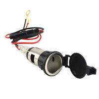 12V Car Motorcycle Cigarette Lighter Power Socket Outlet Plug with Fuse Wire
