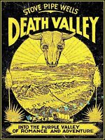 Death Valley California 1950 Stovepipe Wells Vintage Poster Print Desert Travel