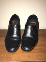 Clarks Artisan Black Leather Zip Ankle Boots Womens Size 8 M