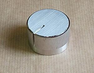 Bouton potentiomètre rotatif alu massif 37x22mm.Pièce détachée SONY TA-1630.
