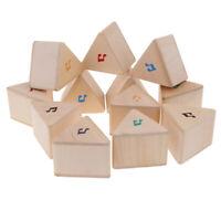 Wooden Triangular Block Set Kids Sound Memory Game Educational Toy Gift