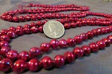Vintage Ruby Red Mercury Glass Garland Approx. 7 ft L. Japan