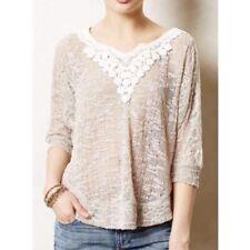 Anthropologie Meadow Rue Women Sweater Size S Boho 3/4 Sleeve Loose Thin Knit