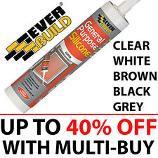 EverBuild General Purpose Silicone Sealant, Clear White Brown Black Grey