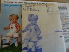 T17 PATRON POUPEE MICHEL BAIGNEUR MODES & TRAVAUX SALOPETTE CHEMISE MAI 1976