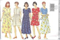 4333 UNCUT Vintage Butterick SEWING Pattern Misses Dirndl Skirt Dress Button Up