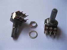 4 pcs B20K Dual Stereo Potentiometer Pots 20mm Split