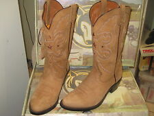 Road Wolf men's Western Boots 1002 Classic Hondo Tan  Size 8.5 M NEW