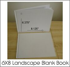 ALL PLAIN BLANK WHITE HARD COVER STUDENT BOOKS TO SELF ILLUSTRATE 6X8 (28) PGS.