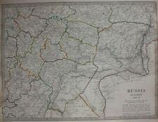 Original antique map CENTRAL RUSSIA, MOSCOW, VOLGA, URAL MOUNTAINS, SDUK, 1835