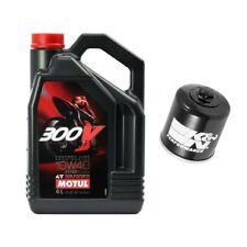 Motul 300V oil & K&N filter service kit Kawasaki ZX14R ZX14-R Ninja 2006-2014